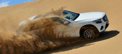 En los médanos de Pinamar, el Mercedes-Benz GLC 350e ya probó su tecnología híbrida