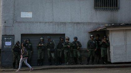 Miembros de las Fuerzas Armadas de Venezuela (Foto: EFE/ Miguel Gutierrez)