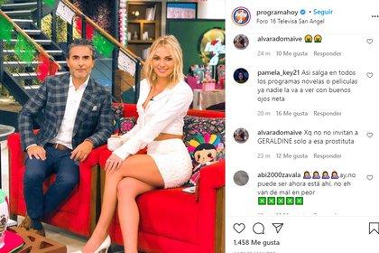 "Esta foto en Instagram se llenó de críticas a la presencia de Irina Baeva en ""Hoy"""