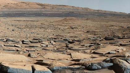 La aridez del planeta rojo en una foto obtenida por el robot Curiosity (NASA)