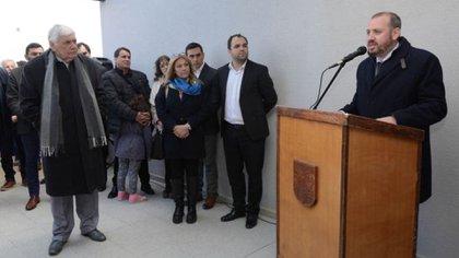 Federico Bodlovic (a la derecha) junto a su padre, ex intendente y actual diputado.