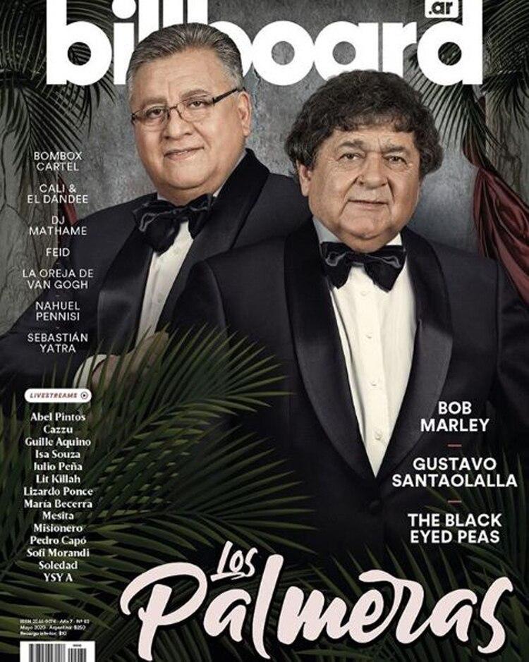 Cacho Deicas y Marcos Camino, en la tapa de la revista Billboard