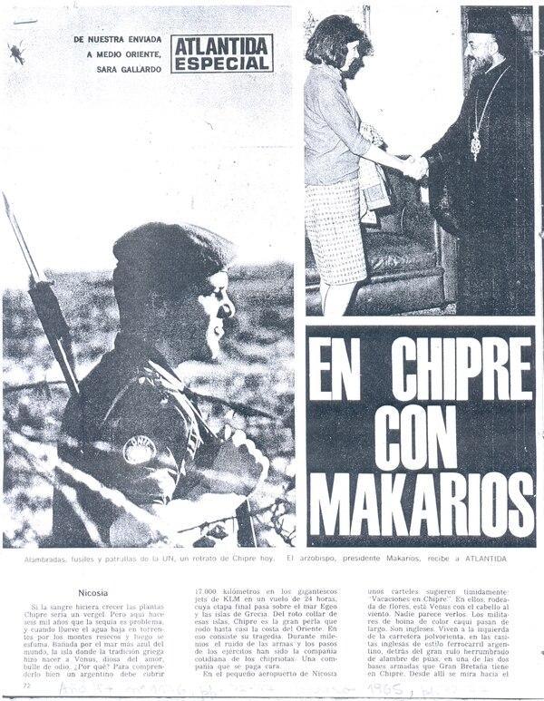 Sara Gallardo también escribió en La Nación y Atlántida