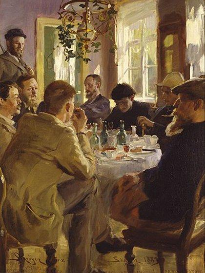 Almuerzo de artistas en Skagen