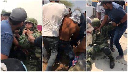 """Militares fueron retenidos y desarmados en La Huacana, municipio en donde nació """"El Migueladas"""" (Foto: Especial)"""