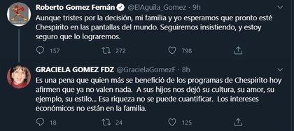 Graciela Gómez Fernández lamentó el trato de la televisora hacia el trabajo de su padre (Captura de pantalla: Twitter)