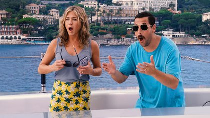 Jennifer Aniston y Adam Sandler
