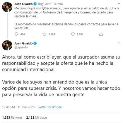 (Twitter Juan Guaidó/@jguaidó)