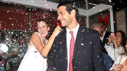 El casamiento por civil de Luli y Cúneo Libarona (Foto: Verónica Guerman)