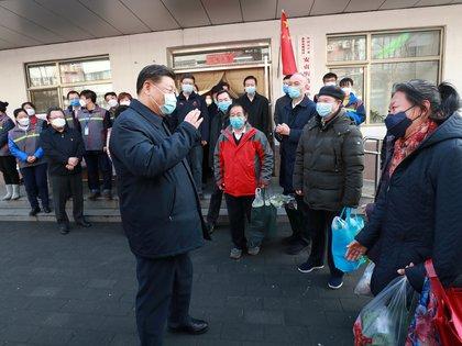 Xi Jinping reunido con vecinos en Beijing (Xinhua via REUTERS)