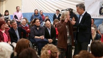 El presidente Mauricio Macri cuando anunció que el programa de Reparación Histórica llegó al millón de jubilados