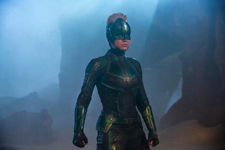 Uno de los ocho trajes que diseñó Sanja Hays para Capitana Marvel.
