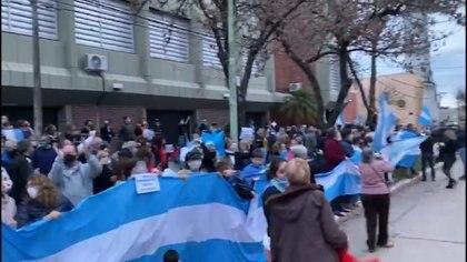 Marcha en el Municipio de Avellaneda, provincia de Santa Fe, contra la intervención y expropiación de Vicentin