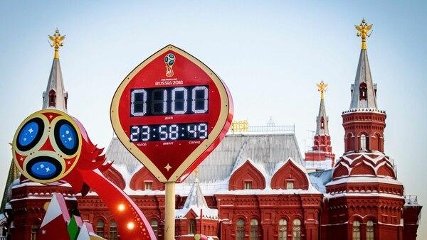 El reloj oficial de la Copa Mundial de la FIFA ya marca que sólo quedan 100 días (AFP)