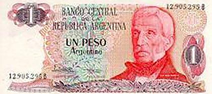 En su menos de 2 años de vida el peso argentino pasó de una emisión de billetes con una nominalidad de $a 100 el 1 de junio de ese año a la de $a 10.000 el 3 de abril de 1985, un salto de 999%, a un ritmo equivalente anual de más de 200% acumulativo
