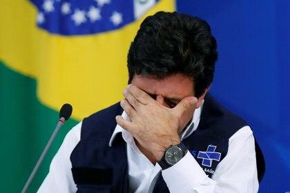 El ministro de Salud brasileño, Luiz Henrique Mandetta, quien mantiene una tensa relación con el presidente Jair Bolsonaro (Reuters)