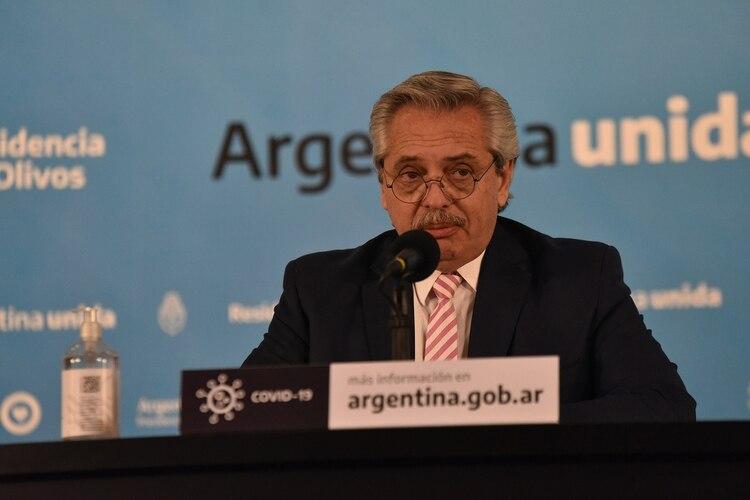 El presidente Alberto Fernández (Franco Fafasuli)