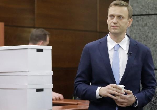 Alexei Navalny, principal opositor al gobierno ruso que denunció un caso de corrupción evidenciado por los contenidos publicados (Reuters)