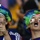 Soccer Football - World Cup - Round of 16 - Belgium vs Japan - Rostov Arena, Rostov-on-Don, Russia - July 2, 2018 Japan fans before the match REUTERS/Sergio Perez
