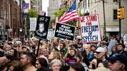 Manifestación anti-aborto en EEUU (AP Photo/Matt Rourke)