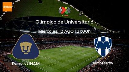Gol de Nicolás Sánchez para el empate de Monterrey ante Pumas