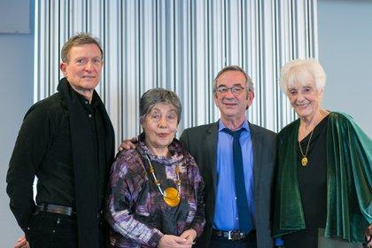 Roberto Álvarez, Norma Morandini, Jorge Sigal y Graciela Fernández Meijide