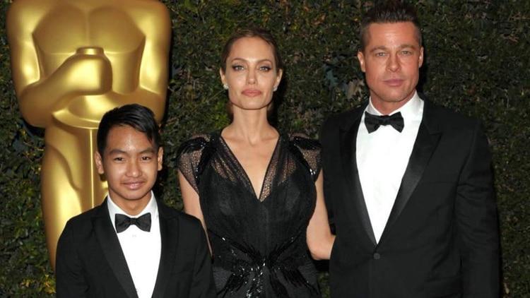 Maddox, Angelina Jolie y Brad Pitt