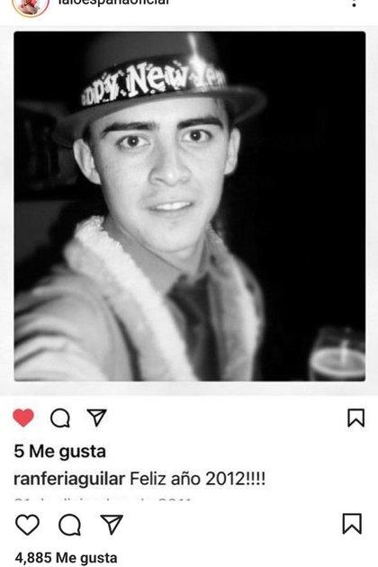 Fotografía con la que Lalo España recordó a Ranferi Aguilar (Foto: Insatgram @laloespanaoficial)