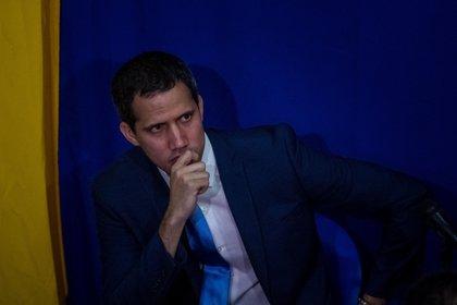 Juan Guaidó en el inicio de sesiones ayer (EFE/ Miguel Gutiérrez)