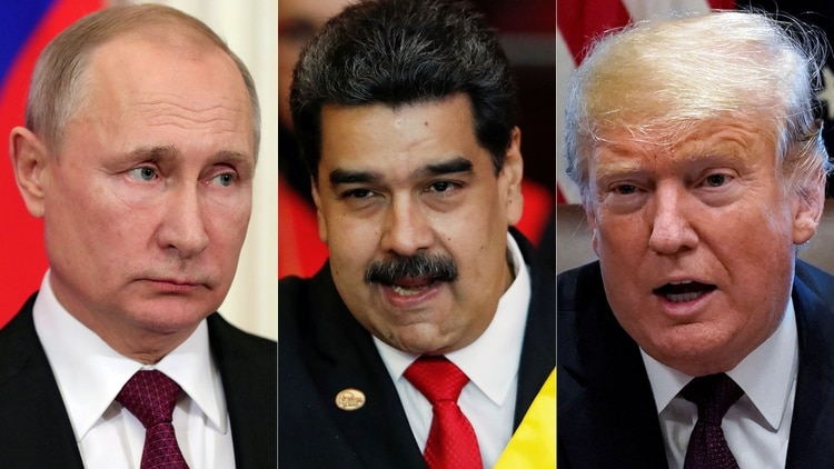 Vladimir Putin, Nicolás Maduro, Donald Trump (Reuters)