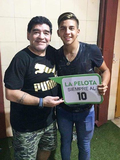 Maradona quiso llevar al joven López al Dinamo Brest de Bielorrusia la temporada pasada (Crédito: Hernán Lopez Muñoz)