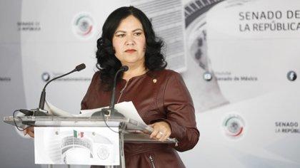 La senadora ya había sido suspendida durante un año de sus derechos partidarios en Morena entre 2018 y 2019 (Foto: Twiter @AlejanLeon)