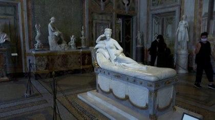 La escultura, en una exhibición previa