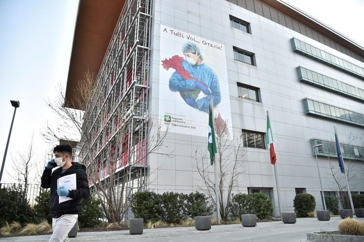 El hospital Juan XXIII de Bérgamo, epicentro de la crisis del coronavirus en Italia (REUTERS/Flavio Lo Scalzo)