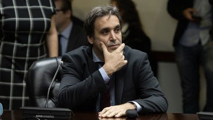 El juez Ramos Padilla en el Congreso (Foto: Adrián Escandar)