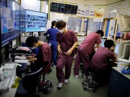 El centro de cuidados intensivos del Hospital Universitario Médico St. Marianna en Kawasaki, al sur de Tokio,