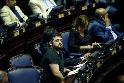 El presidente del bloque de Diputados del Frente de Todos Facundo Tinganelli