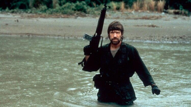 """Chuck Norris en """"Missing in Action"""", film de 1984 (Shutterstock)"""