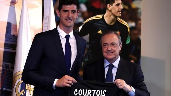 (Reuters) Courtois firmópor seis temporadas con el Real Madrid
