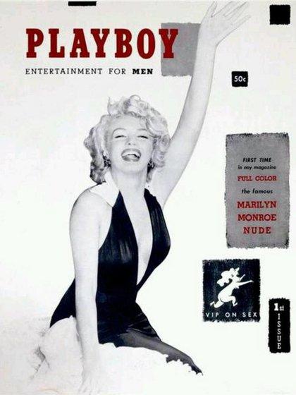 Marilyn Monroe, en la primera portada de Playboy