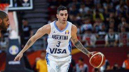 Luca con su clásico número 3 en la Selección que no podrá usar en los New York Knicks (CABB)