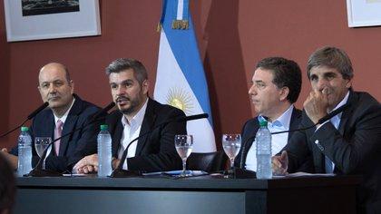 La conferencia de prensa del 28D (Télam)