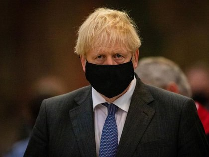 FILE PHOTO: Britain's Prime Minister Boris Johnson attends a service to mark the 80th anniversary of the Battle of Britain at Westminster Abbey in London, Britain September 20, 2020. Aaron Chown/PA Wire/Pool via REUTERS