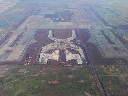 Vista aérea de la construcción del Nuevo Aeropuerto Internacional de México (Cuartoscuro)