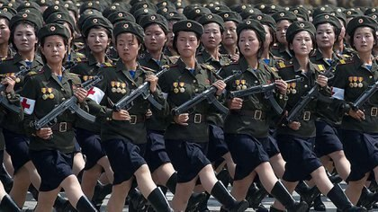 Una división de mujeres del Ejército de Corea del Norte
