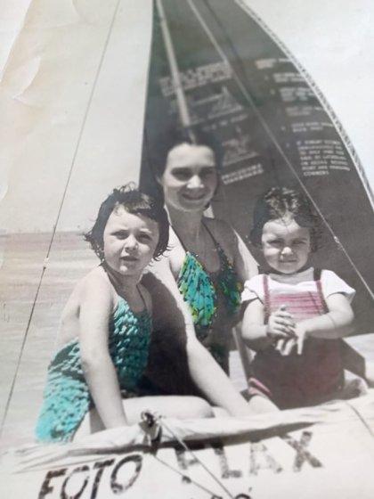 Zulma con su mamá Aurora y su hermana Virginia
