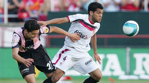 Dani Alves en su etapa en Sevilla