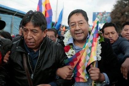 Luis Arce y David Choquehuanca. Foto: REUTERS/Manuel Claure