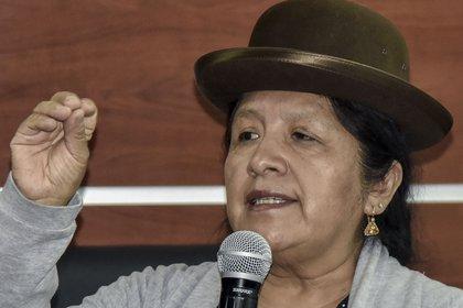 María Eugenia Choque Quispe. (Photo by AIZAR RALDES / AFP)