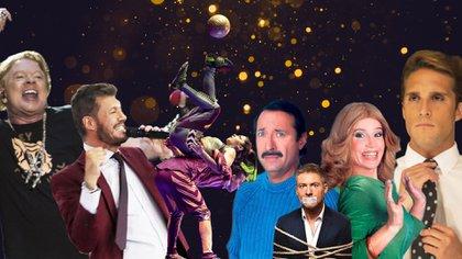 Axl Rose, Marcelo Tinelli, Cirque du Soleil, Guillermo Francella, Adrián Suar, Florencia Peña y Diego Boneta